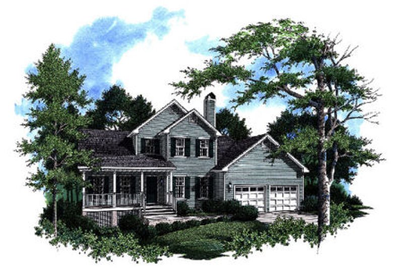 Architectural House Design - Traditional Exterior - Front Elevation Plan #41-169