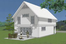 Craftsman Exterior - Rear Elevation Plan #48-490