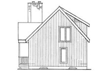 Cabin Exterior - Rear Elevation Plan #3-104