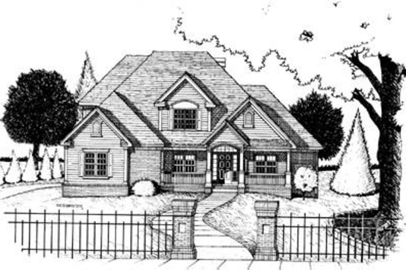 Traditional Exterior - Front Elevation Plan #20-964