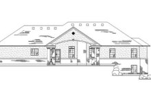 House Plan Design - Traditional Exterior - Rear Elevation Plan #5-247