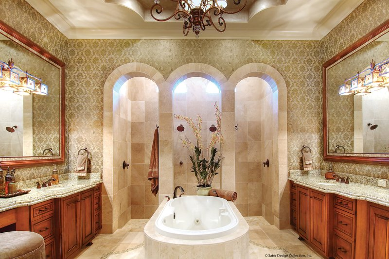 Mediterranean Interior - Master Bathroom Plan #930-13 - Houseplans.com