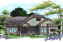 Home Plan - Ranch Exterior - Front Elevation Plan #70-1039