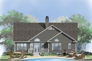 Country Style House Plan - 3 Beds 2 Baths 1671 Sq/Ft Plan #929-554 Exterior - Rear Elevation