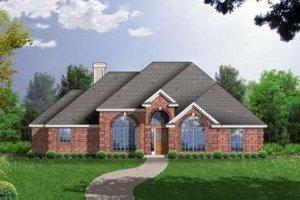 Architectural House Design - European Exterior - Front Elevation Plan #40-134