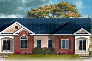 Traditional Exterior - Front Elevation Plan #26-110