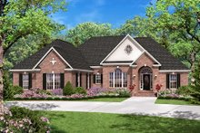 European Exterior - Front Elevation Plan #430-31