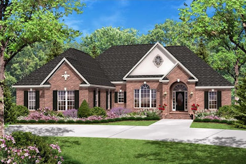 European Style House Plan - 3 Beds 2.5 Baths 2300 Sq/Ft Plan #430-31 Exterior - Front Elevation