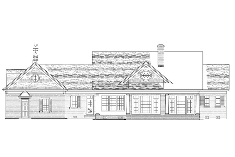 Colonial Exterior - Rear Elevation Plan #137-286 - Houseplans.com
