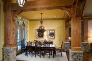 Craftsman Style House Plan - 3 Beds 3 Baths 3642 Sq/Ft Plan #54-391 Interior - Dining Room