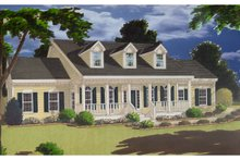 Dream House Plan - Colonial Exterior - Front Elevation Plan #3-275