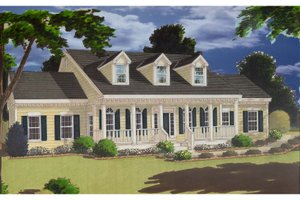 Colonial Exterior - Front Elevation Plan #3-275