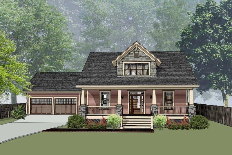 Dream House Plan - Craftsman Exterior - Front Elevation Plan #79-259