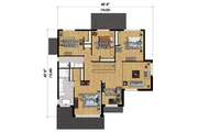 Contemporary Style House Plan - 4 Beds 2 Baths 2979 Sq/Ft Plan #25-4339 Floor Plan - Upper Floor Plan