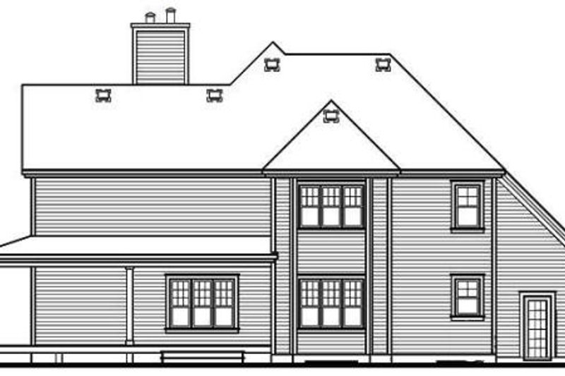 Farmhouse Exterior - Rear Elevation Plan #23-519 - Houseplans.com