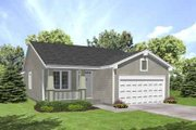 Traditional Style House Plan - 2 Beds 1 Baths 1234 Sq/Ft Plan #50-249 Exterior - Front Elevation