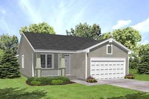 Traditional Exterior - Front Elevation Plan #50-249