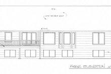 Ranch Exterior - Rear Elevation Plan #58-198