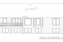 Home Plan - Ranch Exterior - Rear Elevation Plan #58-198