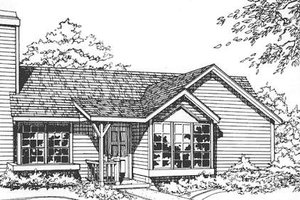 Ranch Exterior - Front Elevation Plan #320-325