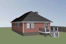 House Plan Design - Cottage Exterior - Rear Elevation Plan #79-136
