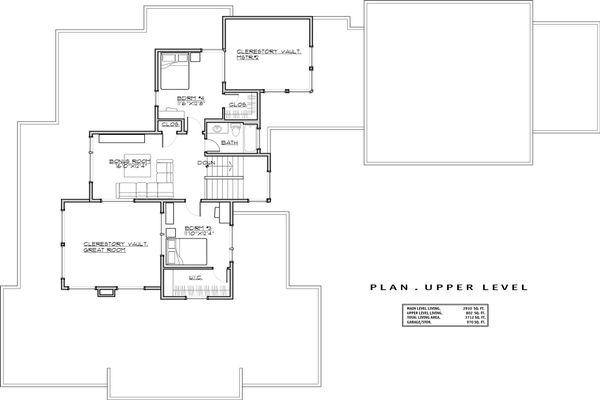 Modern Floor Plan - Upper Floor Plan Plan #892-17