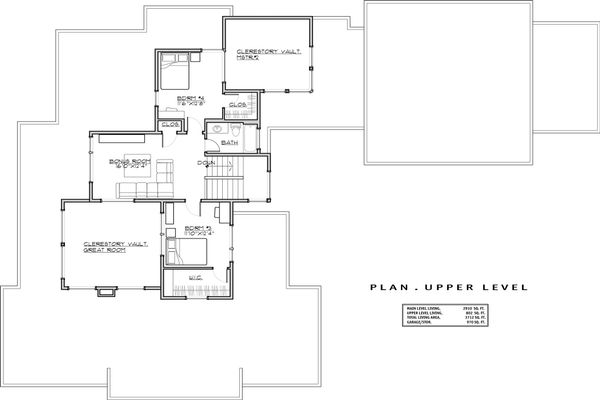 Modern Floor Plan - Upper Floor Plan Plan #892-17