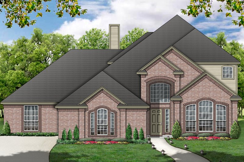 Dream House Plan - European Exterior - Front Elevation Plan #84-391