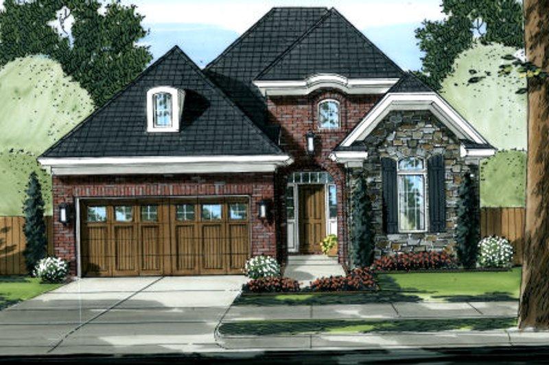Dream House Plan - European Exterior - Front Elevation Plan #46-446