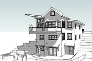 Modern Style House Plan - 4 Beds 4 Baths 2681 Sq/Ft Plan #902-4 Exterior - Front Elevation