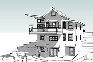 Modern Exterior - Front Elevation Plan #902-4