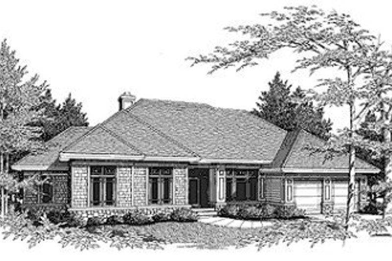 Dream House Plan - Traditional Exterior - Front Elevation Plan #70-373