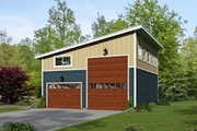 Contemporary Style House Plan - 0 Beds 0 Baths 1454 Sq/Ft Plan #932-32 Exterior - Front Elevation