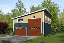 House Plan Design - Contemporary Exterior - Front Elevation Plan #932-32