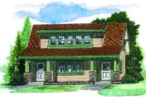 Bungalow Exterior - Front Elevation Plan #47-638