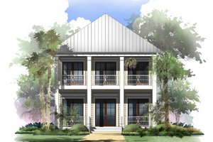 Beach Exterior - Front Elevation Plan #430-120
