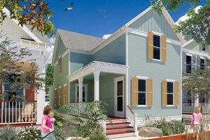 Cottage Exterior - Front Elevation Plan #442-3