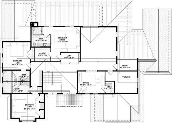 Craftsman Floor Plan - Upper Floor Plan #928-321