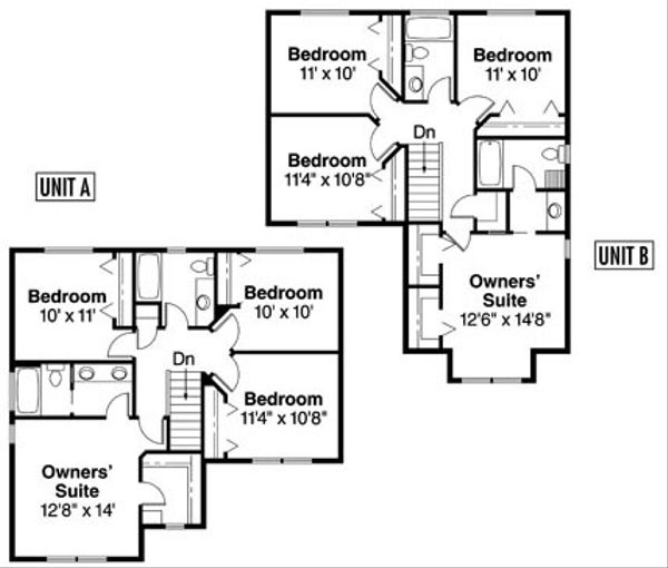 Floor Plan - Upper Floor Plan Plan #124-814
