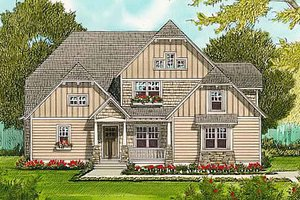 House Plan Design - Craftsman Exterior - Front Elevation Plan #413-138
