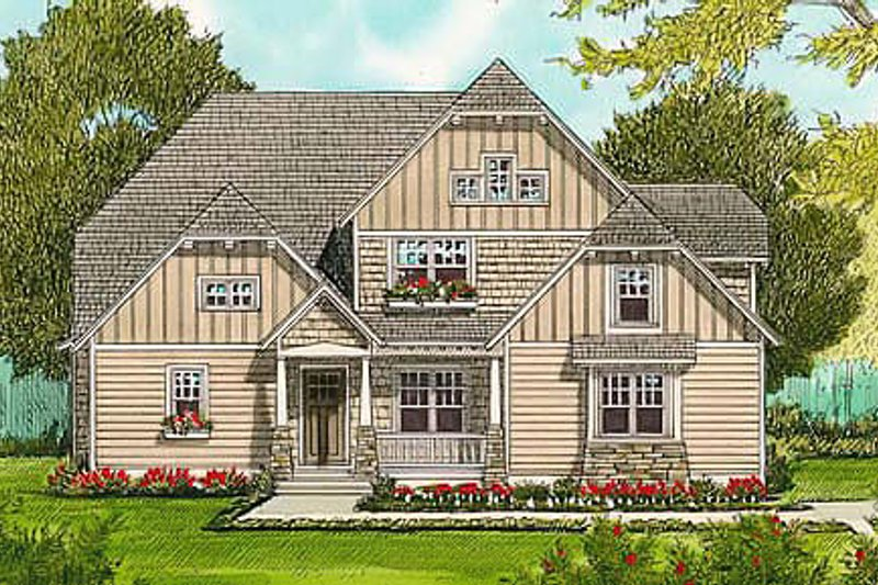 Dream House Plan - Craftsman Exterior - Front Elevation Plan #413-138