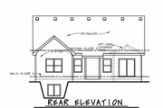 Craftsman Style House Plan - 5 Beds 4 Baths 2811 Sq/Ft Plan #20-2415 Exterior - Rear Elevation