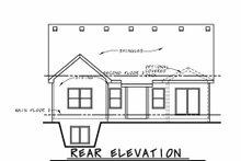 House Blueprint - Craftsman Exterior - Rear Elevation Plan #20-2415