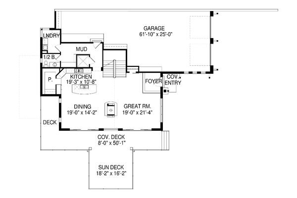 Modern Floor Plan - Main Floor Plan Plan #920-91