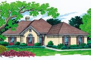 Mediterranean Style House Plan - 4 Beds 3 Baths 2200 Sq/Ft Plan #45-248 Exterior - Front Elevation