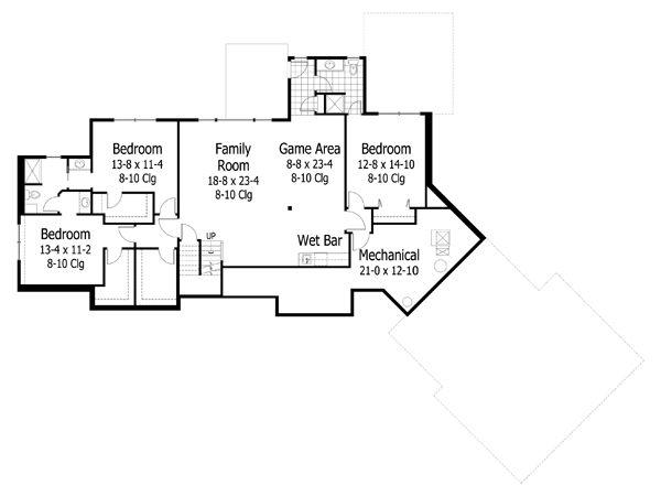 European Floor Plan - Lower Floor Plan #51-505