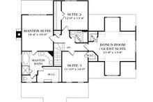 Craftsman Floor Plan - Upper Floor Plan Plan #453-7