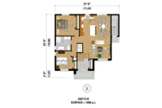 Contemporary Style House Plan - 3 Beds 2 Baths 2176 Sq/Ft Plan #25-4354 Floor Plan - Main Floor Plan