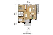 Contemporary Style House Plan - 3 Beds 2 Baths 2176 Sq/Ft Plan #25-4354 Floor Plan - Main Floor