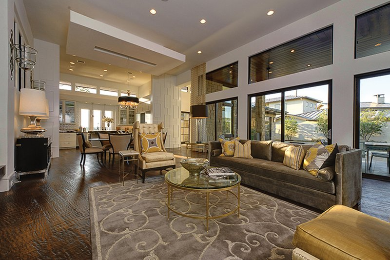 Contemporary Interior - Family Room Plan #935-5 - Houseplans.com